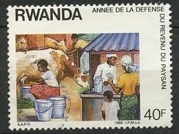 Rwanda - Ruanda 1986 Y&T N°1256 - Michel N°(?) *** - 40f élevage Et Vente - 1980-89: Neufs