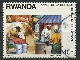 Rwanda - Ruanda 1986 Y&T N°1256 - Michel N°(?) (o)* - 40f élevage Et Vente - 1980-89: Neufs