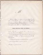 BRUXELLES Marie-Isaure CLAYS, Née QUETELET 34 Ans En 1860 Famille MADOU Faire-part Décès - Todesanzeige