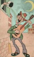Cartolina Umorist., Menestrello Si Beve Una Secchiata D'Acqua, Riproduzione Da Orig., Reproduction, Illustrazione, (F36) - Humor