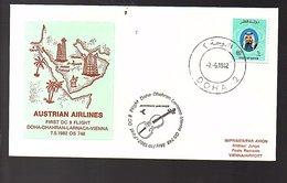1982 1st Flight Doha>Dharan>Larnaca>Vienna Suisse (193) - Qatar