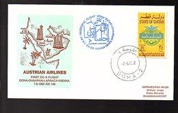 1982 1st Flight Doha>Dharan>Saudi Arabai  (193a) - Qatar