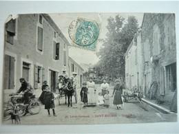 - CPA 47  SAINT MAURIN ( LOT ET GARONNE ) GRAND ' RUE -  ANIMÉE - ATTELAGE CHEVAL - ANCIENNE MOTO Grande Rue - ETAT - Autres Communes