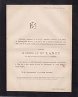 HERMALLE DEVANT-LE-PONT Mélanie LEFEBVRE épouse Ambroise De LANCE  71 Ans 1878 Visé - Décès