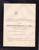 HERMALLE DEVANT-LE-PONT Ambroise De LANCE 80 Ans 1886 Veuf LEFEBVRE Visé - Décès