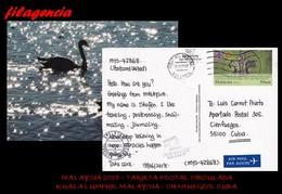 ASIA. MALAYSIA. ENTEROS POSTALES. TARJETA POSTAL CIRCULADA 2018. KUALA LUMPUR. MALAYSIA-CIENFUEGOS. CUBA. SCOUTS - Malasia (1964-...)