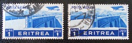 PONT 1936 - OBLITERES - YT PA 22 - VARIETES D'OBLITERATIONS - Eritrea