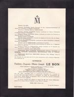 40-45 GROSS ROZEN Silésie Frédéric LE BON Décembre 1944 Louvain Ancien Officier Prisonnier Politique Famille TAYMANS - Décès