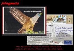 ASIA. MALAYSIA. ENTEROS POSTALES. TARJETA POSTAL CIRCULADA 2018. KUALA LUMPUR. MALAYSIA-CIENFUEGOS. CUBA. ARQUITECTURA - Malasia (1964-...)