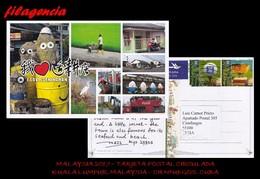 ASIA. MALAYSIA. ENTEROS POSTALES. TARJETA POSTAL CIRCULADA 2017. KUALA LUMPUR. MALAYSIA-CIENFUEGOS. CUBA. GOLF - Malaysia (1964-...)