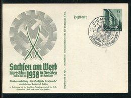 """Deutsches Reich / 1938 / Postkarte Mi. P 270 SSt. Chemnitz """"Wettkampftage SA-Gruppe Sachsen"""" (23655) - Deutschland"""