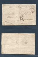 "DUTCH INDIES. 1869 (6 Sept) Anjer  - France. EL Full Text Red Octagonal ""Indian Neer."" French Paquebot. Fine. - Nederlands-Indië"