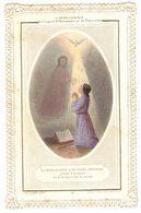 CANIVET COULEUR DENTELLE L'INTELLIGENCE DE L'ESPRIT D'OBEISSANCE REPARATION IMAGE PIEUSE RELIGIEUSE  HOLY CARD SANTINO - Imágenes Religiosas