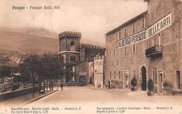 """M08562 """"PERUGIA-PENSION BELLE ARTI""""-CART. ORIG. SPED. 1914 - Perugia"""