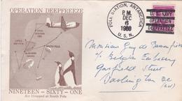 U.S. Navy Opération Deepfreeze - Air Dropped At South Pole - 1960 - Beaux Cachets - Expéditions Antarctiques