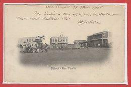 AFRIQUE - DIJIBOUTI -- Place Ménélik - Gibuti