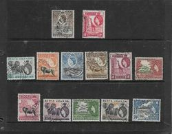 Kena Uganda Tanganyika, EIIR, 1954 - Definitive Short Set 5c - 10/=, Used - Kenya, Uganda & Tanganyika