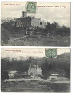 07 - LAMASTRE - Lot De 2 CPA - Châteaux Du Vierger Et D'Urbillac - Lamastre