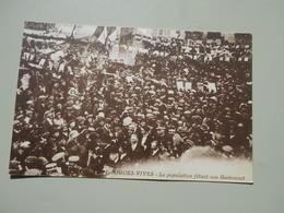 GARD AIGUES VIVES LA POPULATION FETANT SON GASTOUNET  GASTON DOUMERGUE 01/08/1863-18/06/1937 PRESIDENT REPUBLIQUE 1924 A - Aigues-Vives
