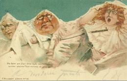 Die Bahn Am Ziel! Drei Opfer Des Fortschritts, Riproduzione Da Orig., Reproduction, Illustrazione, (F50) - Humor