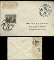 WW II Briefumschlag :gebraucht Mit Sonderstempel Tag Der Briefmarke Weimar - Assen Holland Mit OKW Zensurstreifen 1940 - Briefe U. Dokumente