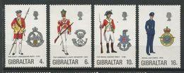Gibraltar 1974 N° 308/311 ** Neufs MNH Superbes C 8,50 € Uniformes Militaires Infanterie Armée Air Lancashire Sussex - Gibraltar