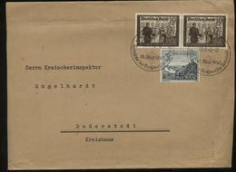 WW II Briefumschlag: Gebraucht Mit 10 Pfg MiF Postkameradschaft I Sonderbriefmarke Und Sonderstempel Eupen - Duderstad - Lettres & Documents