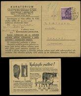 WW II Böhmen Und Mähren Postkarte Milch Werbung: Gebraucht Prag - Trnova L942, Bedarfserhaltung. - Lettres & Documents