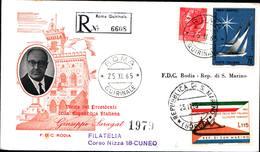 13140a)F.D.C.SAN Marino  Visita Del Presidente Saragat A San Marino - 25 Novembre 1965 - FDC