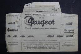 """MEXIQUE - Télégramme """" Peugeot"""" De Mexico Pour Paris En 1924 - L 39821 - Mexiko"""