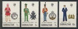 Gibraltar 1972 N° 284/287 ** Neufs MNH Superbes C 10 € Uniformes Militaires Infanterie Cornwall Fusiliers Marin Hampshir - Gibraltar