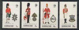 Gibraltar 1971 N° 274/277 ** Neufs MNH Superbes C 9 € Uniformes Militaires Fusiliers Black Watch Régiment Devonshire - Gibraltar