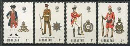 Gibraltar 1969 N° 224/227 ** Neufs MNH Superbes C 4 € Uniformes Militaires Artillerie Royale Génie Infanterie Marine - Gibraltar