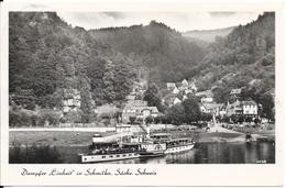 """Dampfer """"Einheit""""  En Suisse. (Voir Commentaires) - Barche"""