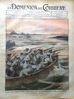 La Domenica Del Corriere 18 Agosto 1912 Eruzione Etna Frana A Dorio Tevere Slavi - Libri, Riviste, Fumetti