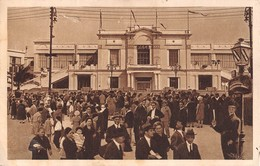 """M08569 """"BARI-FIERA DEL LEVANTE-PALAZZO DELLA MODA""""ANIMATA-PUBBLICITA' BIRRA PERONI-CART. ORIG. SPED.1934 - Bari"""