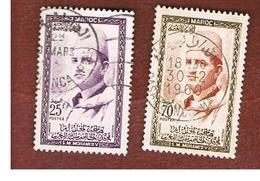 MAROCCO (MOROCCO)  -  SG 33.36  -   1957   KING MOHAMMED V    - USED ° - Marocco (1956-...)