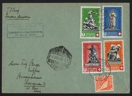 Schweiz 1940 - Postflug - Locarno Nach Barcelona - Poste Aérienne