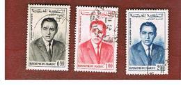 MAROCCO (MOROCCO)  -  SG 102.104  -   1962 KING HASSAN II   - USED ° - Marocco (1956-...)