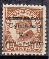 USA Precancel Vorausentwertung Preo, Locals Kentucky, Cynthiana 553-532 - Vereinigte Staaten