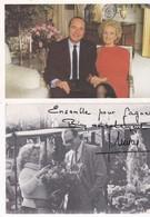 """Lot 2 Doc 10x15 Politique J. CHIRAC :1/  """"Avec Toute Mon Amitié"""" - 2/ """"Ensemble Pour Gagner. Bien Amicalement J. Chirac"""" - People"""