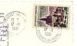 BOUCHES Du RHONE - Dépt N° 13 = SAUSSET LES PINS 1961 = CACHET MANUEL A8 - Postmark Collection (Covers)