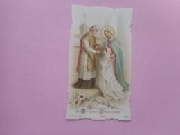 DEVOTIE-PREMIERE COMMUNION YVONNE POINLOUP  -L'EGLISE ST.-DEIS-LES-PONTS 7-6-1908 - Religione & Esoterismo