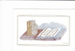 518/29 -- BRUGES CARTE PORCELAINE - SUPERBE Carte Illustrée Bardin , Relieur - Litho Années 1840/50 - Cartes De Visite