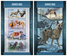 SIERRA LEONE 2018 - Service Dogs - YT CV=39 €, 7661-4 + BF1374 - Hunde