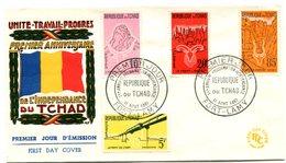 Tchad FDC 1er Anniversaire De L'indépendance - R 5683 - Tchad (1960-...)
