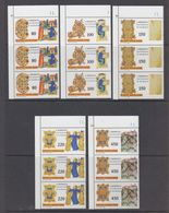 Vatican City 1980 San Benedetto, Patrono D'Europa 5v  Strip Of 3 ** Mnh (44287) - Europese Gedachte