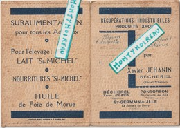Vieux  Papier  : Carnet : Pontorson - St Germain Sur Ille , Bécherel - Alte Papiere