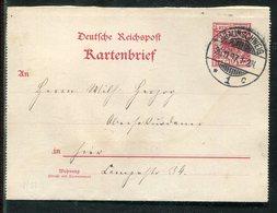 Deutsches Reich / 1897 / Kartenbrief Steg-Stempel BRAUNSCHWEIG (23661) - Allemagne