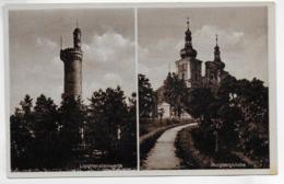 AK 0303  Jägerndorf-Burgberg ( Ost-Sudetengau ) - Liechtensteinwarte , Burgbergkirche Ca. Um 1930 - Sudeten